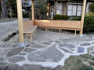 石月石材アプローチの施工例
