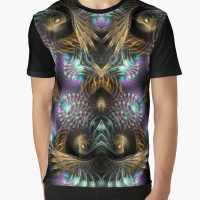 Fractals Scifi Shell Swirls Graphic T Shirt