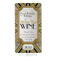 Gold+Taupe+Black Art Deco v4 Wine Labels