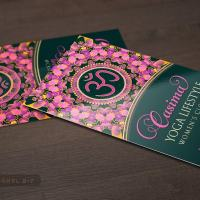 Pink Purple Mandala OM Yoga | Business Card
