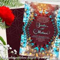 Eastern Flower of Life Wedding Invitation