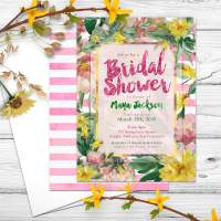 Nature Floral Bridal Shower Invitation