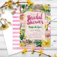Nature Floral Bridal Shower Invitation