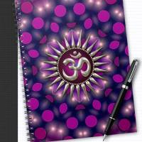 Yoga Om Purple Healing Energy Notebook
