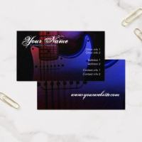 Sleek Musician Electric Guitar Business Card template