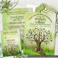 Tree of Life Bar Mitzvah Invitation Suite