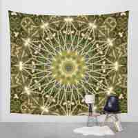Forest Green Mandala Wall Tapestry