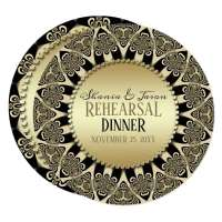 Tribal Sun Rehearsal Dinner Invitation Round