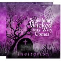 Wickedly Unique Halloween Wedding Invitations