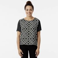 Interlock Black and White Patterns Chiffon Top