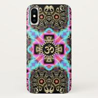 Celtic Arabesque Aum Gold Art Fusion iPhone Case