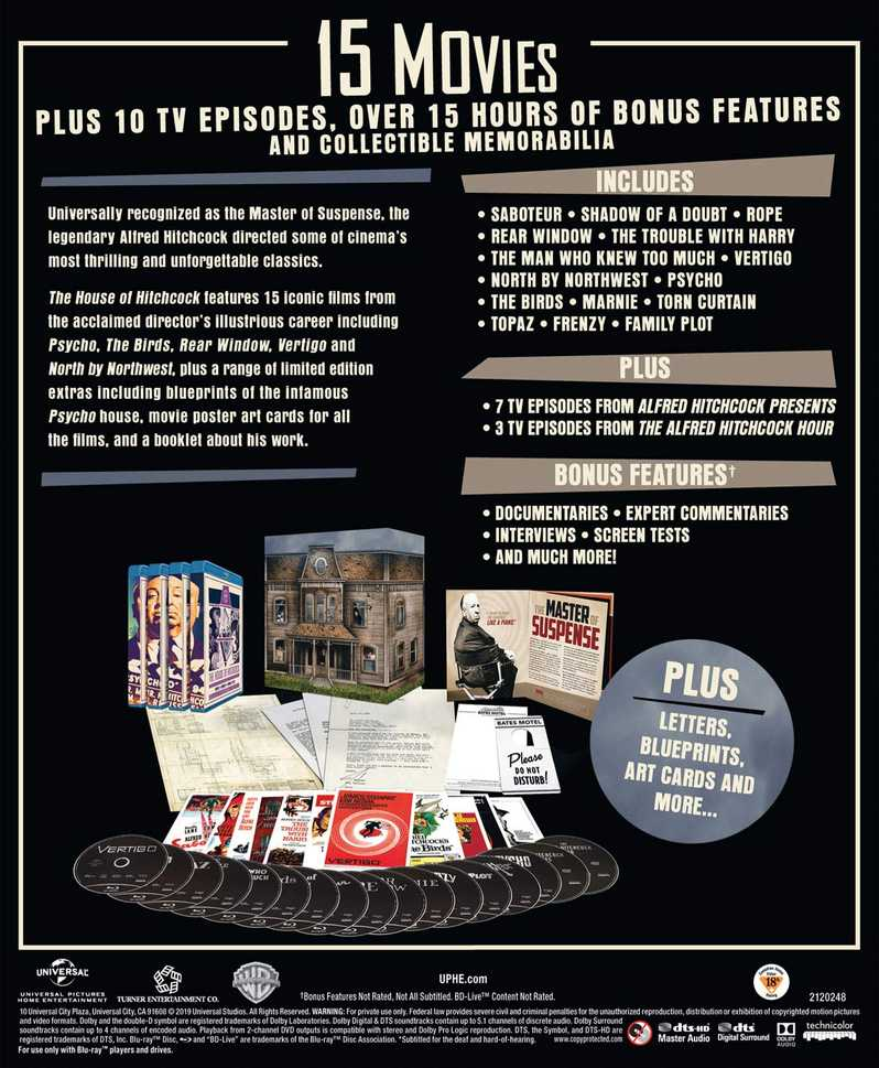The House of Hitchcock blu-ray collection back cover