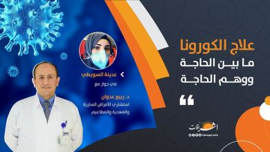 Photo of علاج الكورونا! ما بين الحاجة ووهم الحاجة