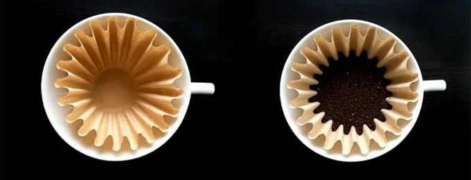 コーヒー粉を入れたらこんな感じです