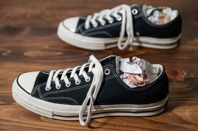 靴の中に入らないように