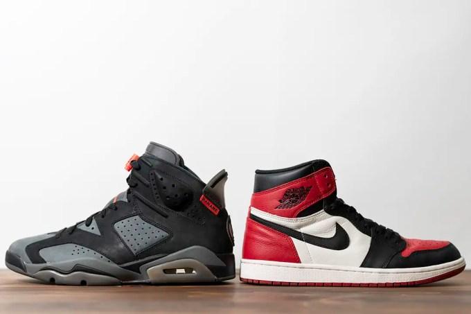 左:AJ6 右:AJ1