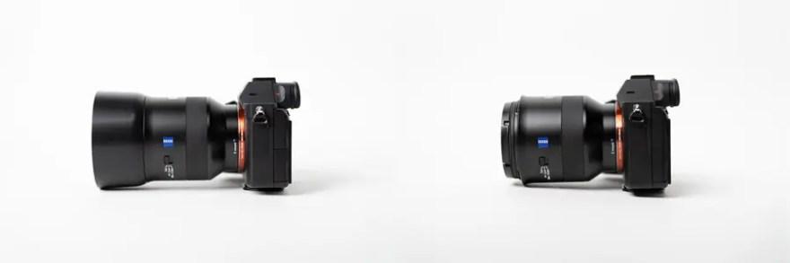 左:レンズフード比較