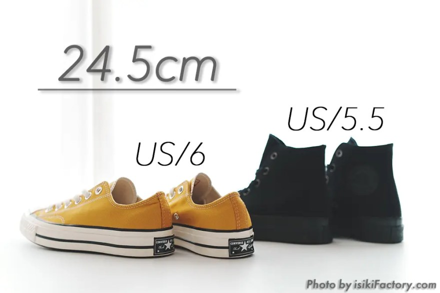 2つの24.5cm