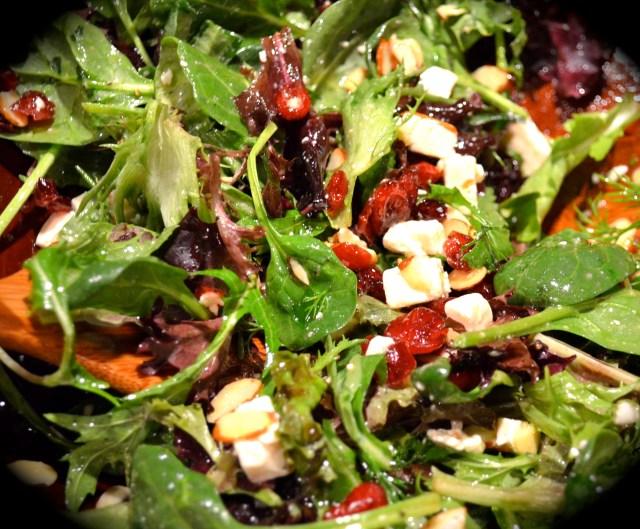 Potato PancCranberry, Feta And Almond Salad