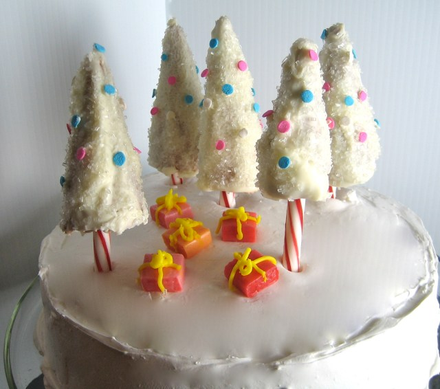 Candy Cane Tree Cake