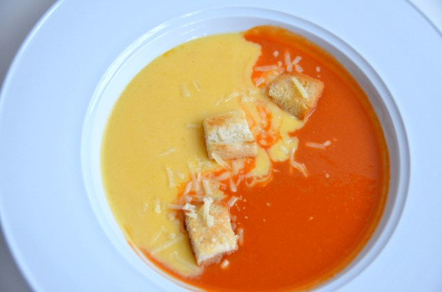 Tomato And Grilled Cheese Soup