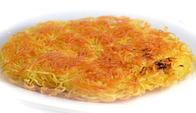 Crispy Noodle Pancake