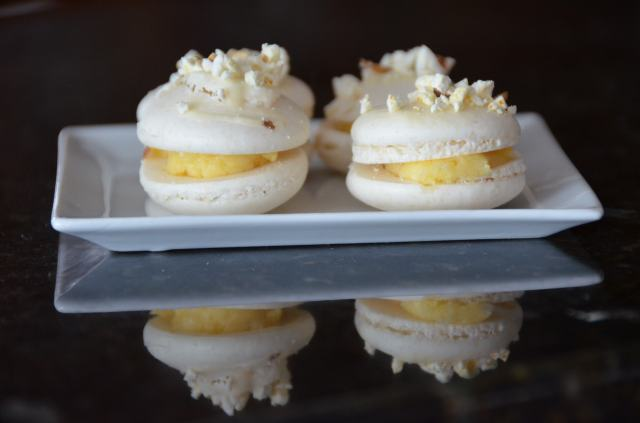 Salted Butter Popcorn Macarons