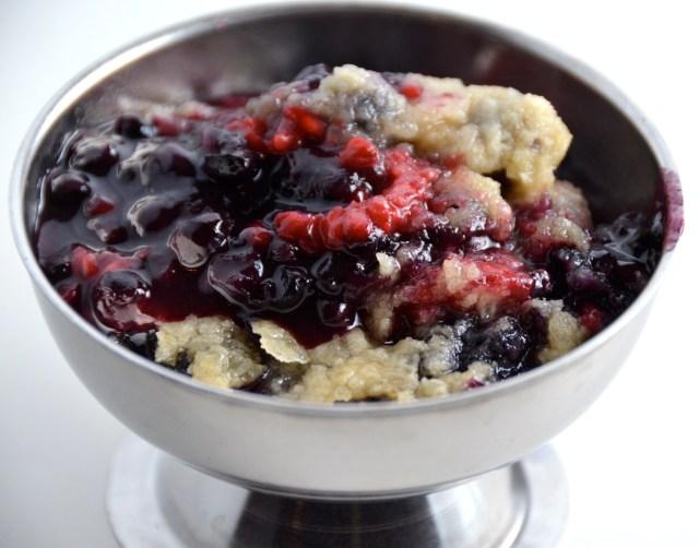 Raspberry-Blueberry Crisp