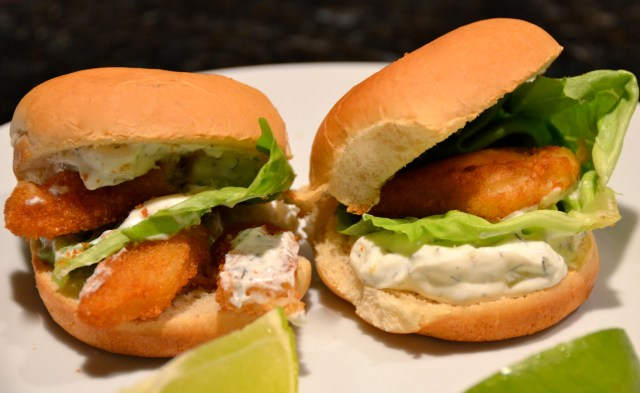 Crispy Fish Sliders With Tzatziki