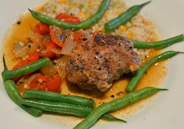 Pork With Peppadew And White Wine Sauce