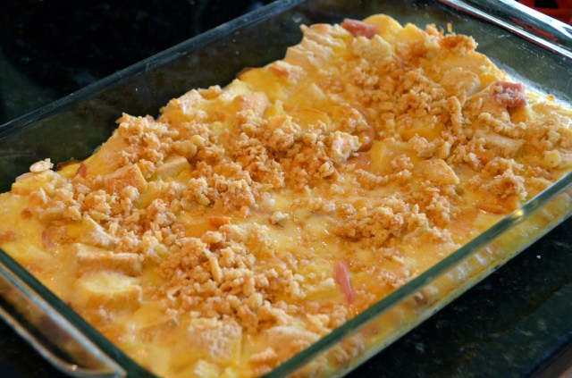 Ham and Cheese Overnight Souffle