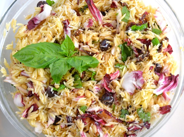 Orzo Salad With Everything.