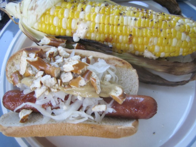 Hot Dogs and Grilled Corn