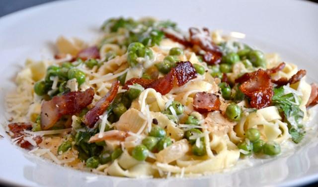 Tagliatelle With Bacon And Gorgonzola