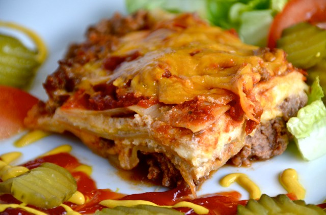 Make Ahead Cheeseburger Lasagna