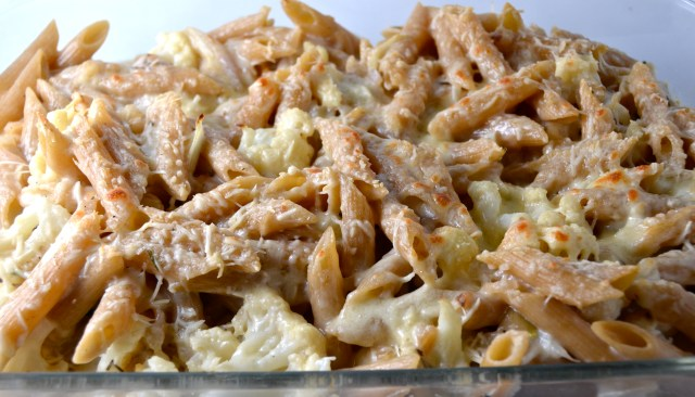 Whole Grain Penne With Four Cheeses And Cauliflower