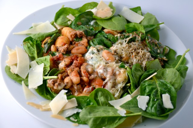Gnocchi With White Beans, Spinach And Sausage
