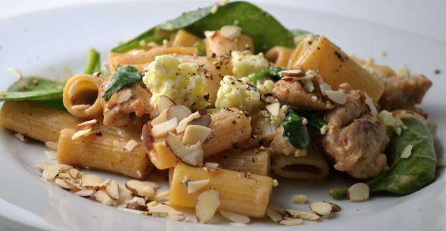 Pear And Turkey Sausage Rigatoni