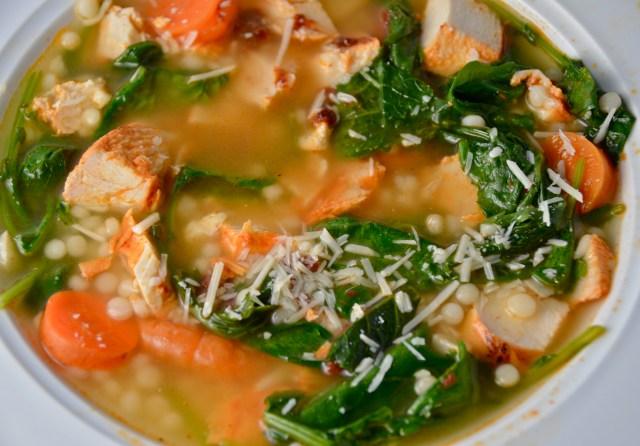 Chicken Kale Couscous Soup