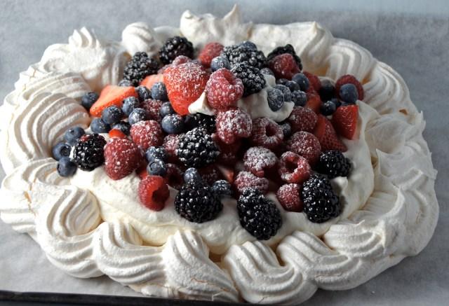 Mixed Berry Pavlova