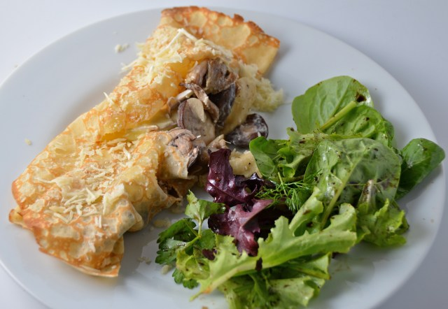 Melting Brie And Mushroom Crêpes