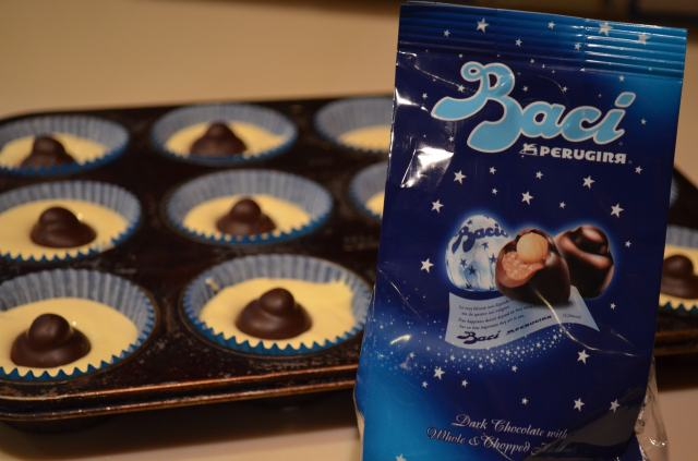 Baci filled cupcakes
