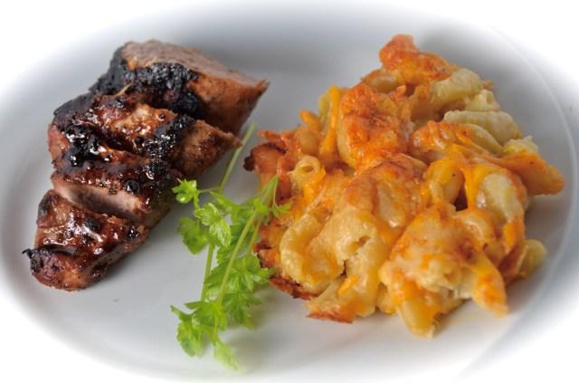 Honey Butter Pork Tenderloin With Homey Mac & Cheese