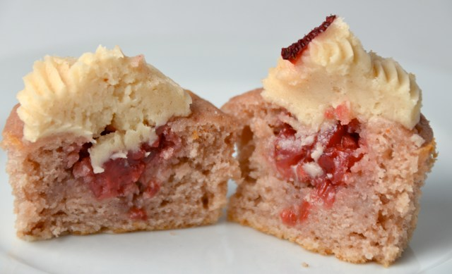 Strawberry Firebomb Cupcakes With Cinnamon Whisky Buttercream