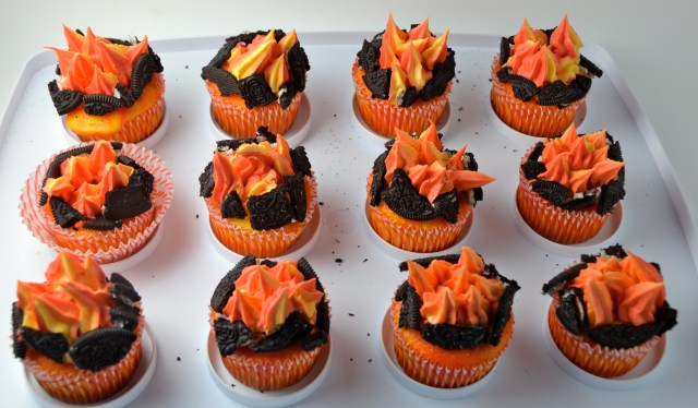Hunger Games Cupcakes On Fire