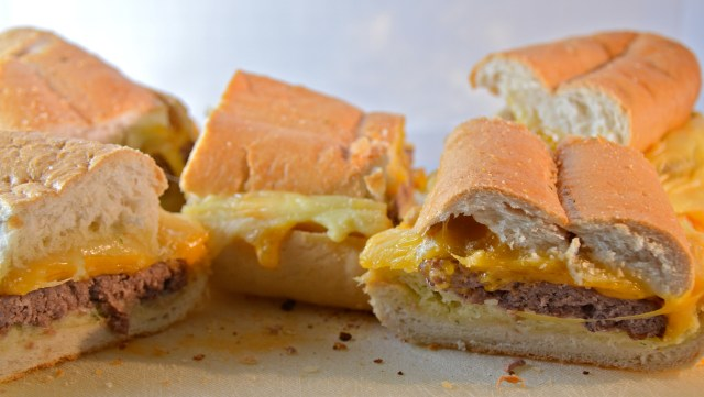 Garlic Bread Cheeseburgers