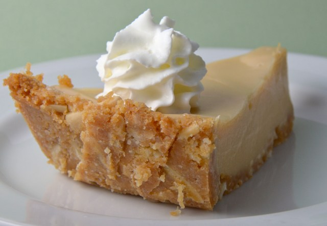 Key Lime Pie With Slivered Almond Crust