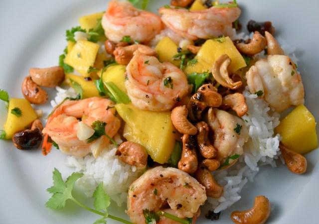 Spiced Shrimp With Mango And Cashews