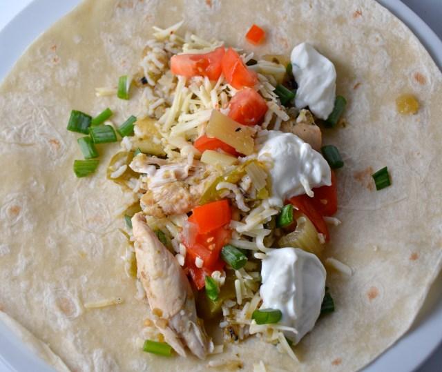 Slow Cooker Spicy Chicken Burritos