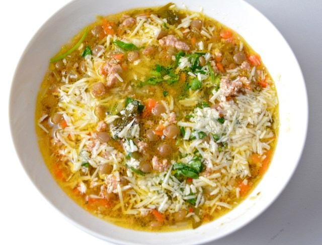 Quick Homemade Sausage & Lentil Soup